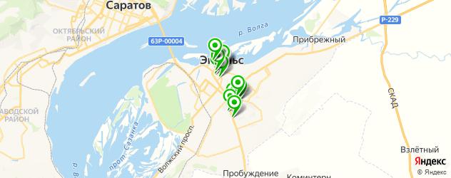 спорты-бары на карте Энгельса