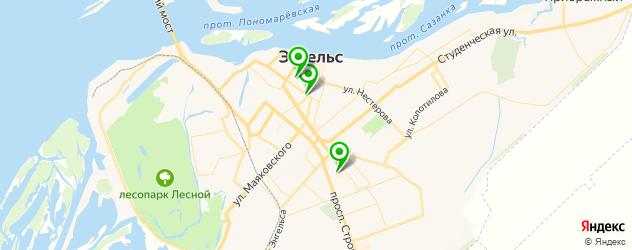 пивные рестораны на карте Энгельса