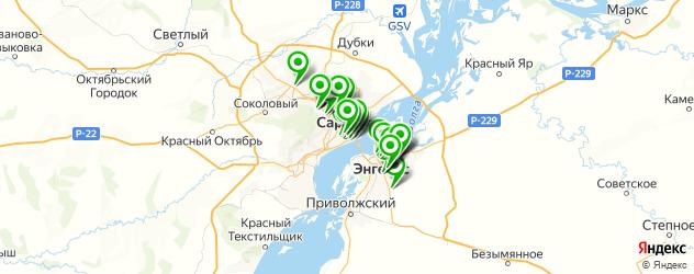 бильярд на карте Саратова