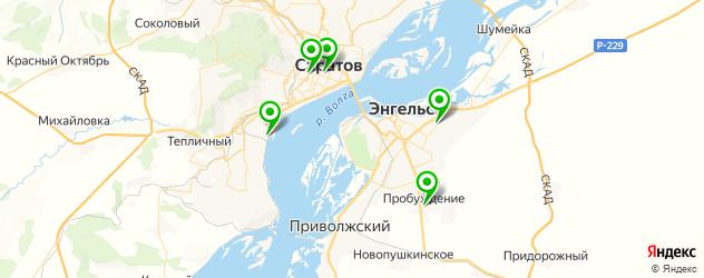 пекарни на карте Саратова