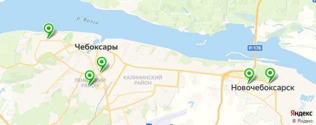 анализы ПЦР на карте Чебоксар