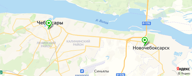 пекарни на карте Чебоксар