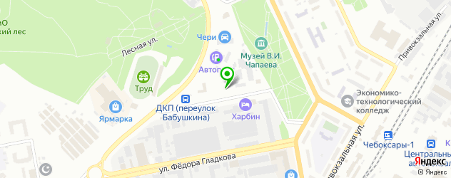 парковки на карте Чебоксар