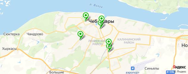 НИИ на карте Чебоксар