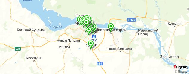 фотостудии на карте Чебоксар