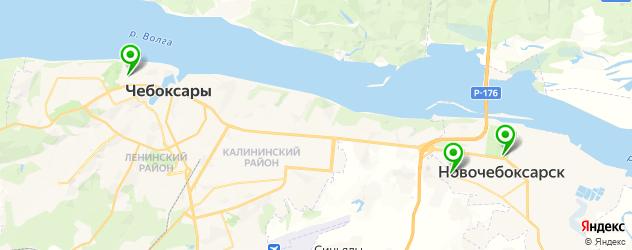 рестораны с детской комнатой на карте Чебоксар
