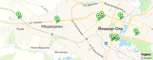 спортивные школы на карте Йошкар-Олы