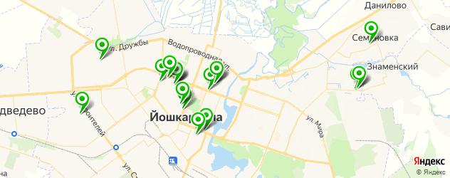 институты на карте Йошкар-Олы