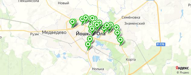 мастерские на карте Йошкар-Олы