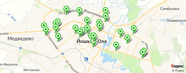 обувные мастерские на карте Йошкар-Олы