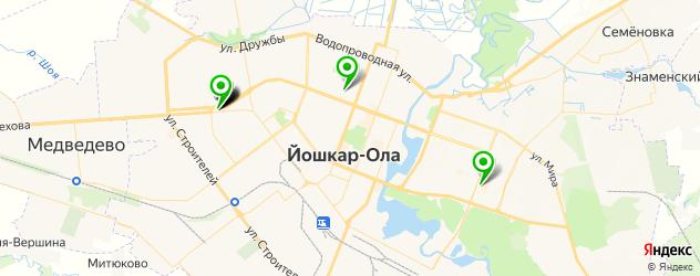 японские рестораны на карте Йошкар-Олы