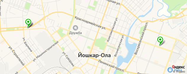 вегетарианские рестораны на карте Йошкар-Олы