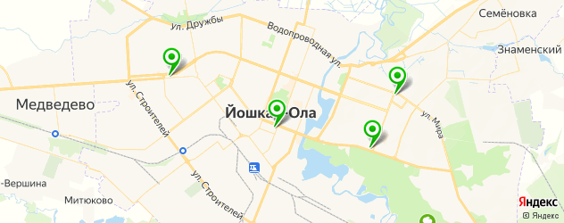 антикафе на карте Йошкар-Олы