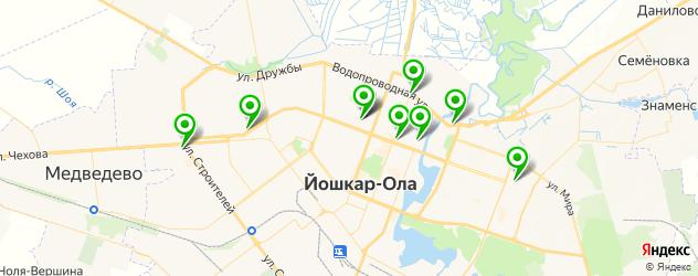 мотосалоны на карте Йошкар-Олы