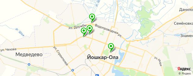 прачечные на карте Йошкар-Олы