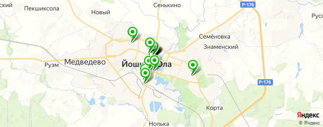 меховые ателье на карте Йошкар-Олы