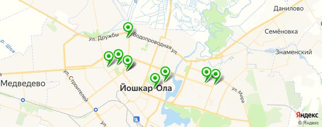 бары с живой музыкой на карте Йошкар-Олы