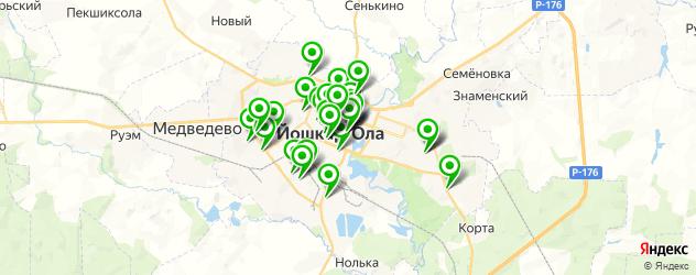 типографии на карте Йошкар-Олы