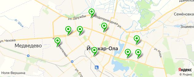 вегетарианские кафе на карте Йошкар-Олы