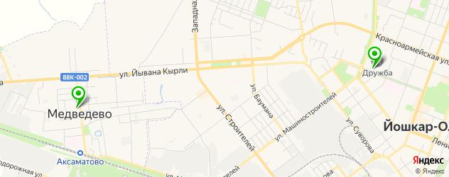 стадионы на карте Йошкар-Олы
