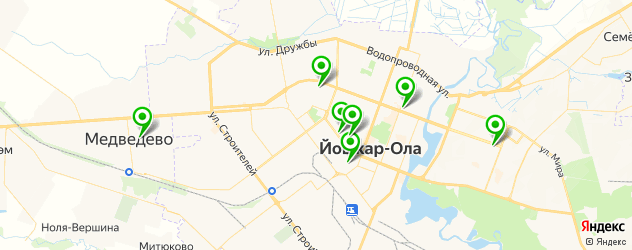 гимназии на карте Йошкар-Олы