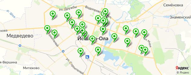 тренажерные залы на карте Йошкар-Олы