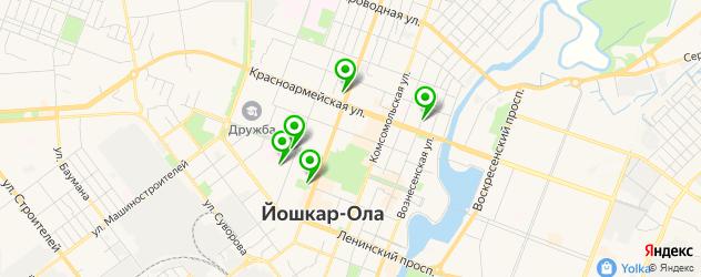 детские стоматологические поликлиники на карте Йошкар-Олы