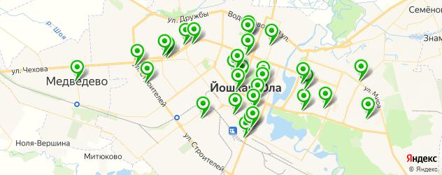 стоматологические клиники на карте Йошкар-Олы