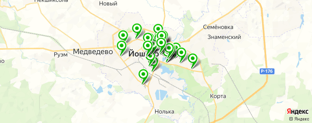 агентства праздников на карте Йошкар-Олы