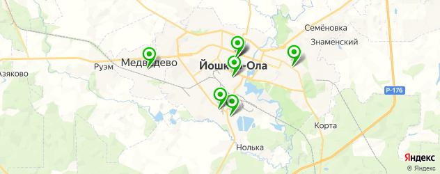 культурные центры на карте Йошкар-Олы