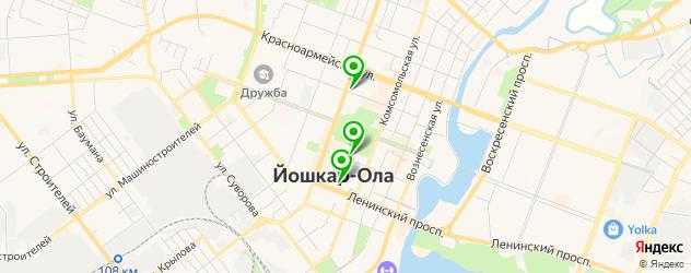 картинные галереи на карте Йошкар-Олы