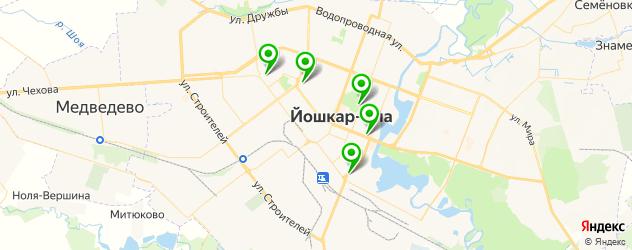 бары с танцполом на карте Йошкар-Олы