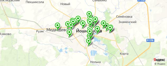 медицинские центры на карте Йошкар-Олы