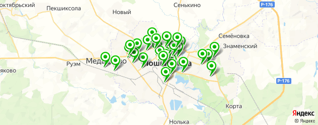аптеки на карте Йошкар-Олы