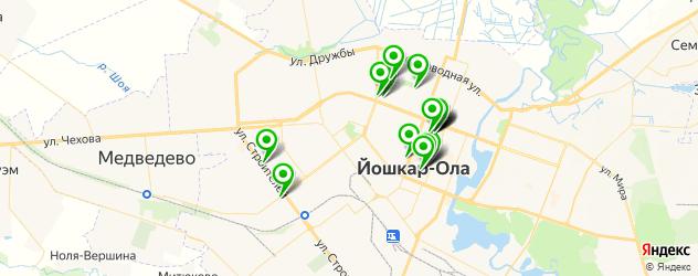 колледжи на карте Йошкар-Олы
