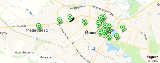 службы доставки еды на карте Йошкар-Олы