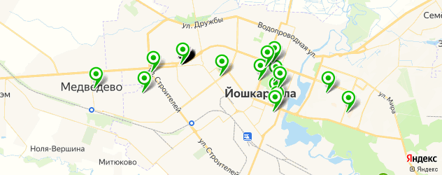 Доставка роллов на карте Йошкар-Олы