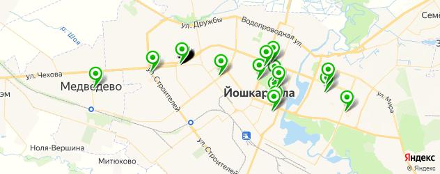 Доставка суши на карте Йошкар-Олы