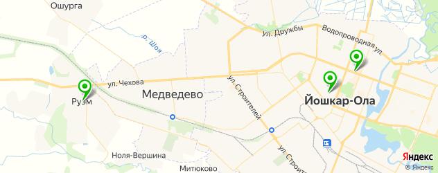 НИИ на карте Йошкар-Олы