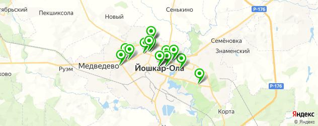 химчистки на карте Йошкар-Олы