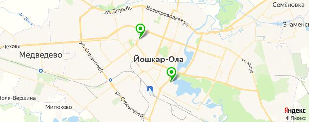 ледовые дворцы на карте Йошкар-Олы