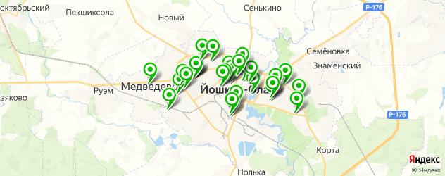 кондитерские на карте Йошкар-Олы