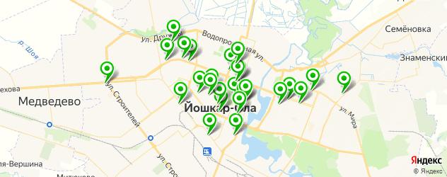 ломбарды на карте Йошкар-Олы