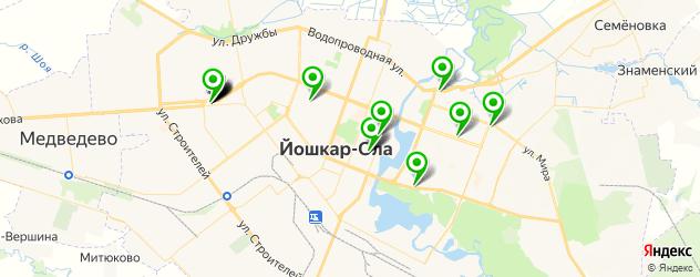 Доставка шашлыка на карте Йошкар-Олы