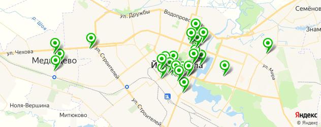 обменные пункты на карте Йошкар-Олы