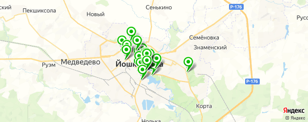 бесплатный Wi-Fi на карте Йошкар-Олы