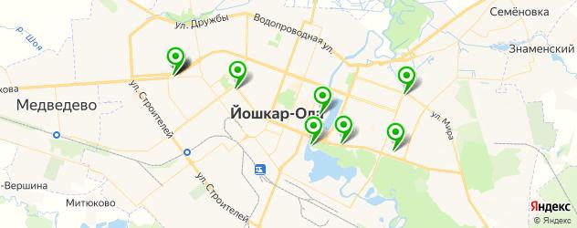 рестораны с детской комнатой на карте Йошкар-Олы