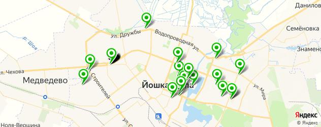 Доставка пиццы на карте Йошкар-Олы