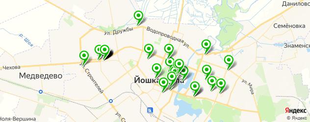 пиццерии на карте Йошкар-Олы