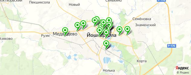 компьютерные помощи на карте Йошкар-Олы